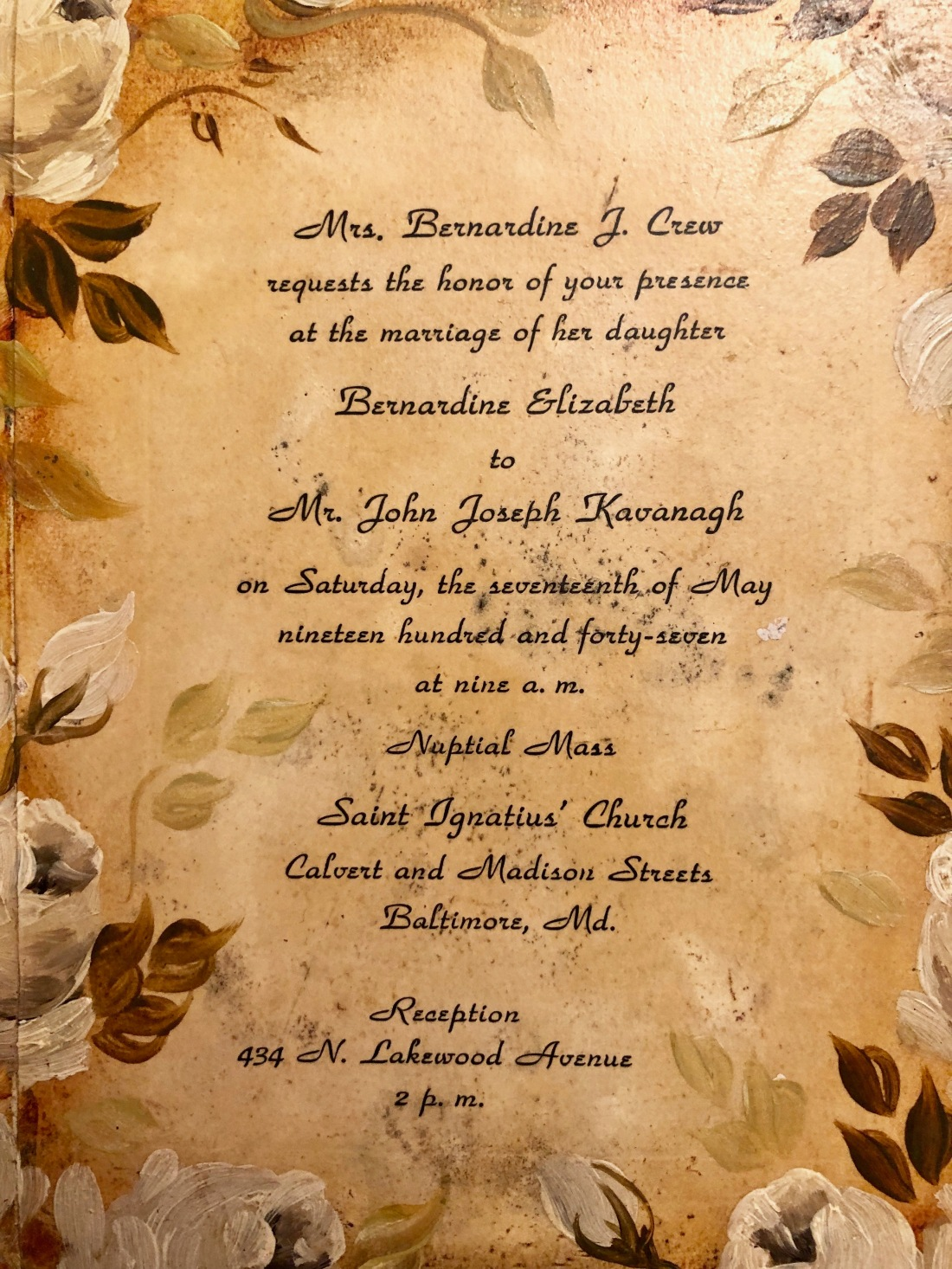 Jack and Betty's Wedding Invitation