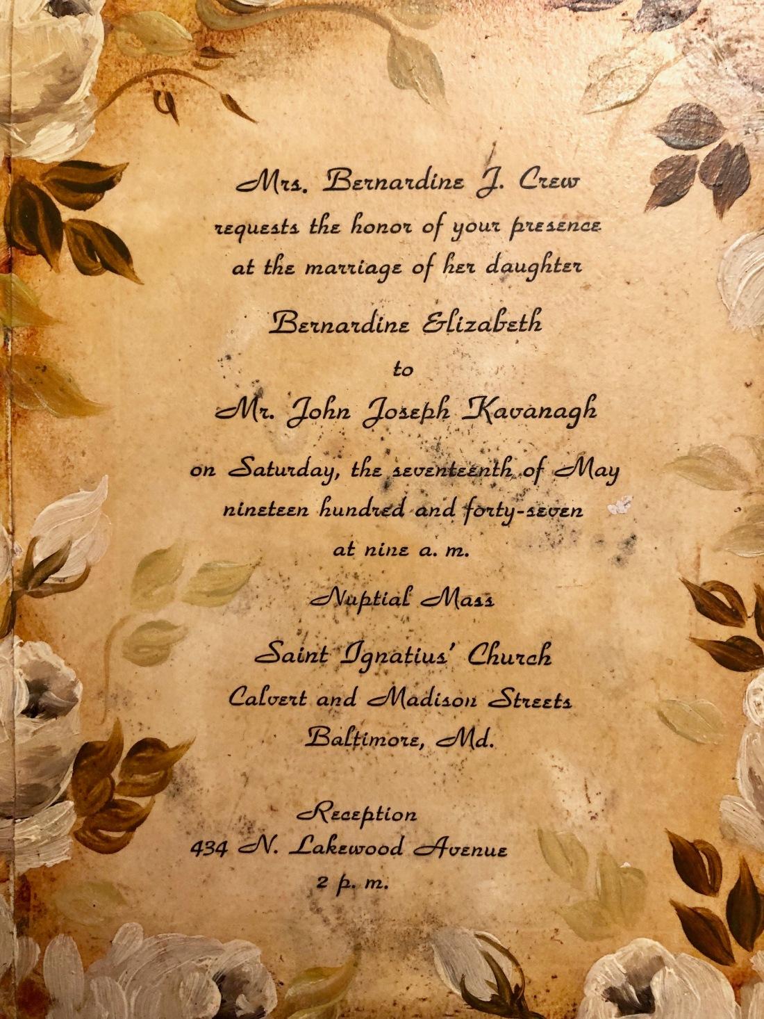 Jack and Betty's Wedding Invitation