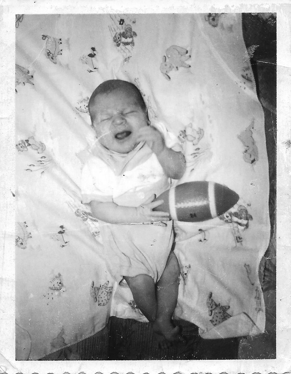 Jack baby pic with football