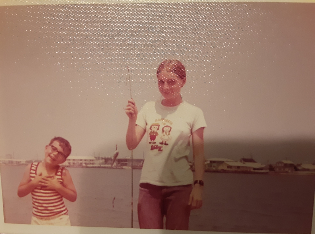 JoAnn and Joe Fishing in OC. 1973