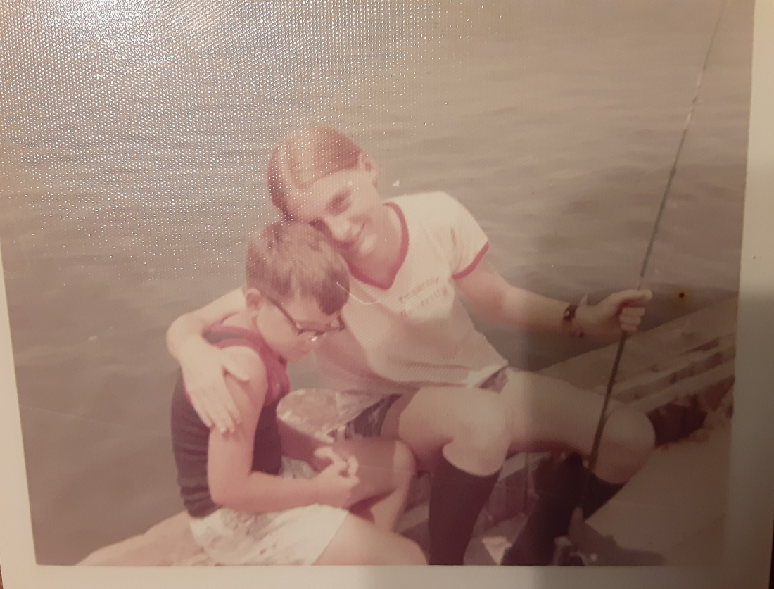 JoAnn and Joe Fishing in OC. 1974.