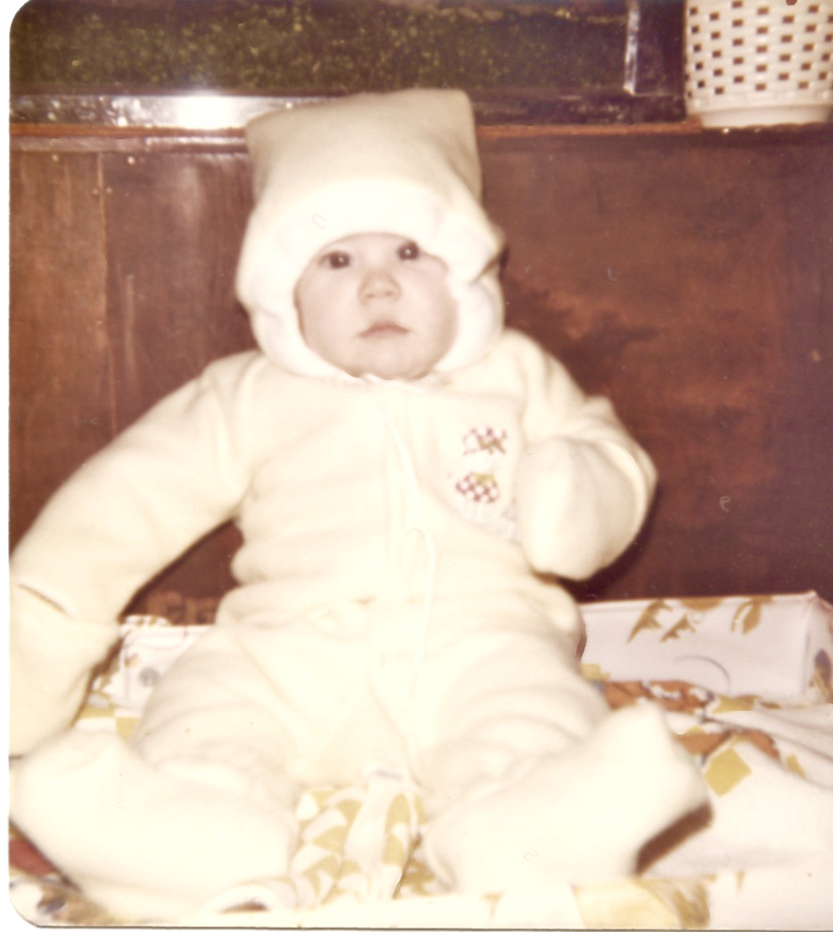 Maura in snow suit late 1975