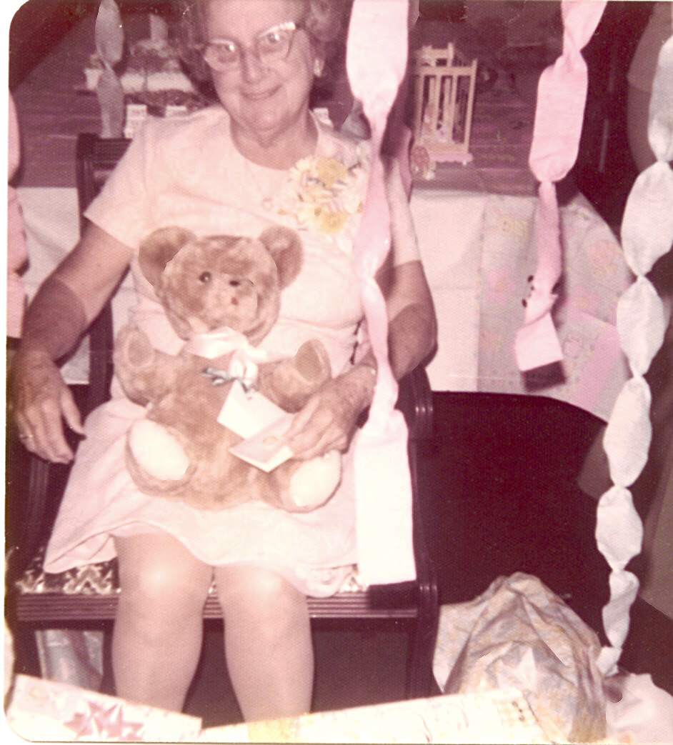 Nanny at Nancy's baby shower 1975