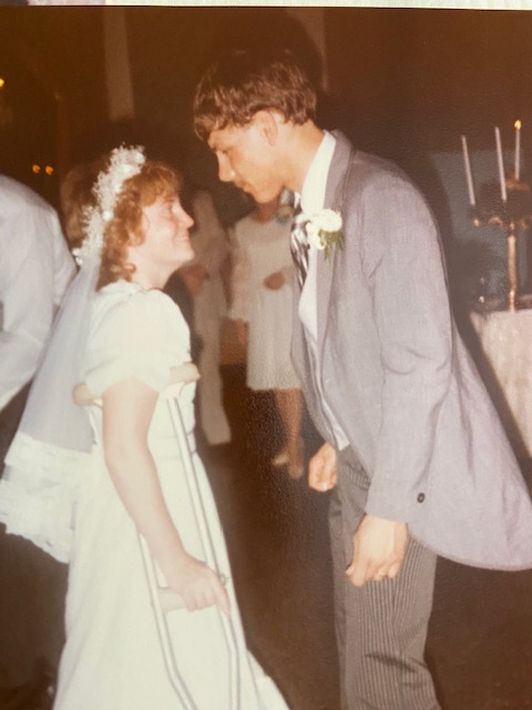 1983 Jane and Jeff at their wedding