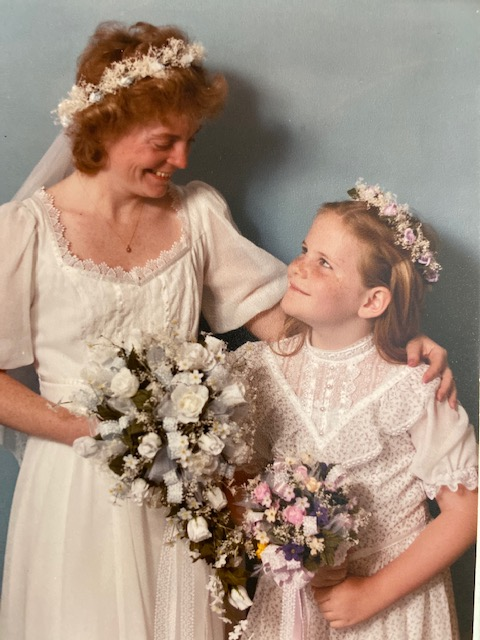 1983 Jane and Maura at Jane's Wedding