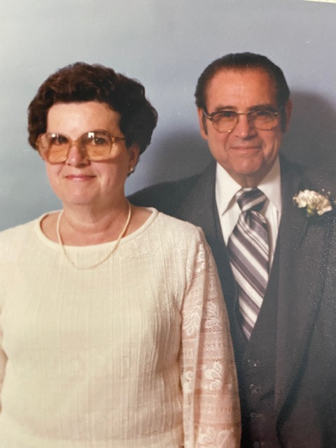 1983 Mom and Dad at Jane's Wedding