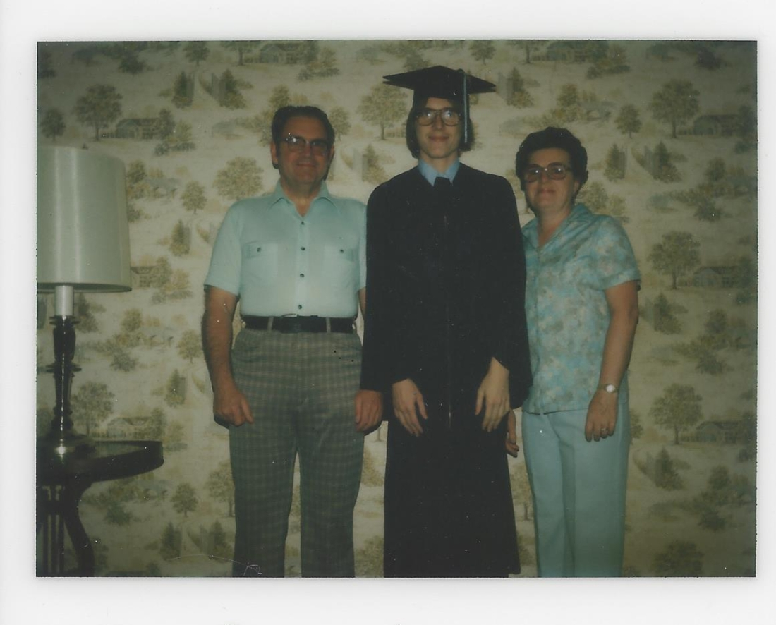 Jack, Mom, Dad - grad HS Lakewood