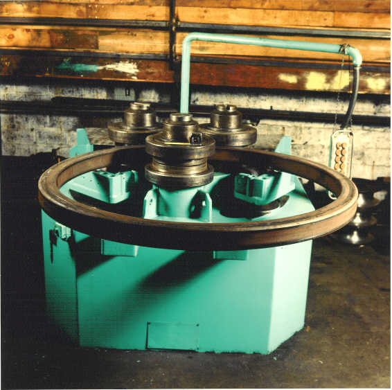 R-6-S with Square tube being rolled into a ring