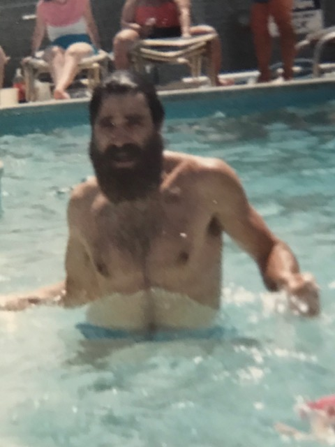 1986 Michael in pool at Royal Palms