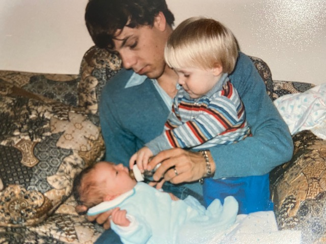 1986 November Jeff, Phil and Sarah