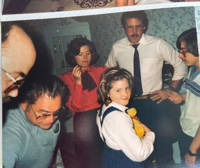 1986 Sarah's Christening Dad, Handy, Nancy, Jim, Joe and KO